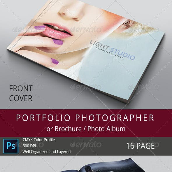 16 Pages Photography Portfolio or Photo Album
