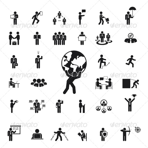 Silhouettes of Business People - Concepts Business