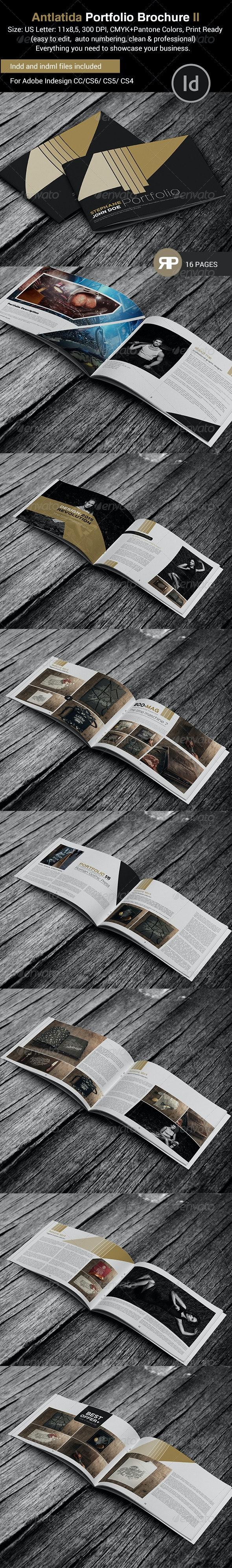 Antlantida Portfolio Brochure Template - Portfolio Brochures