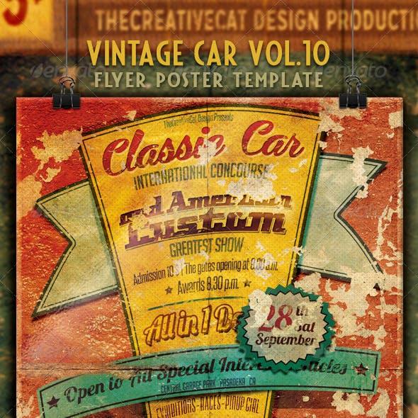 Vintage Car Flyer/Poster Vol. 10