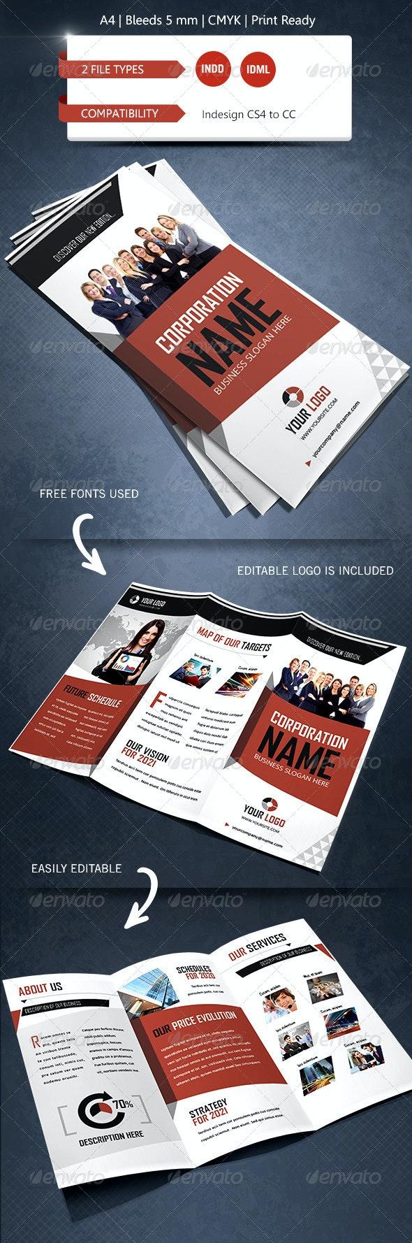 Creative & Corporate Trifold Brochure Template - Corporate Brochures
