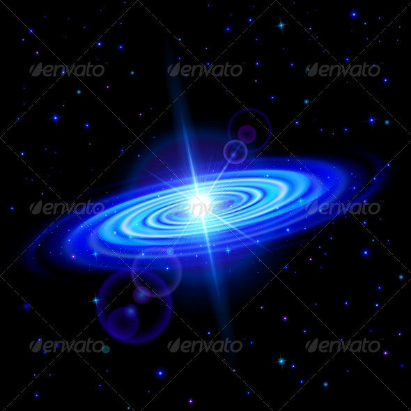 Blue Galaxy - Miscellaneous Vectors
