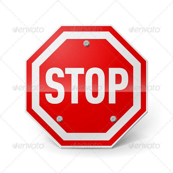 Stop Sign - Conceptual Vectors