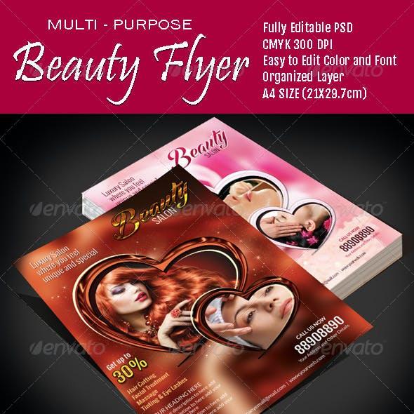 Multi Purpose Beauty Flyer - Vol3