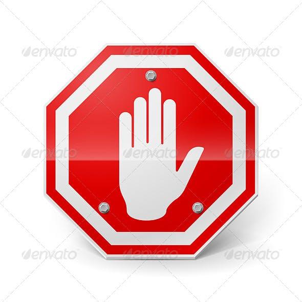 Red Metal Stop Sign