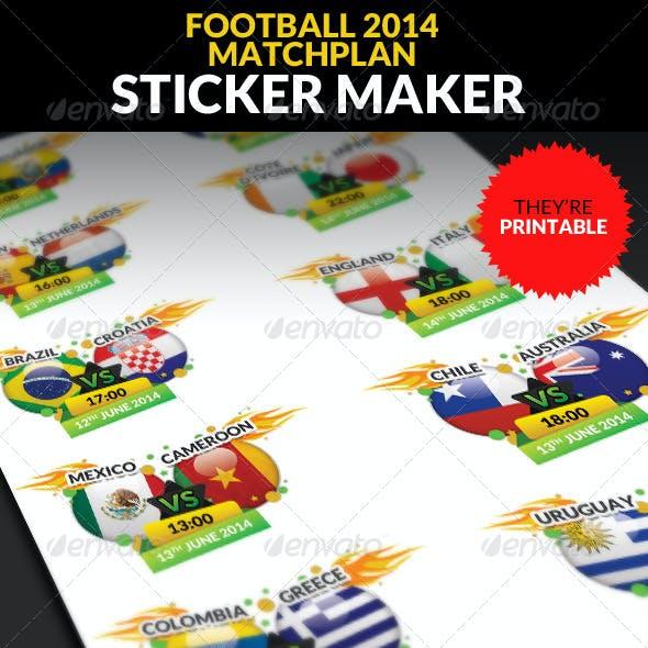 Football Championship 2014 Matchplan Sticker Maker