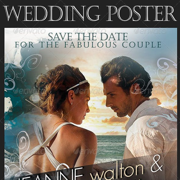 Wedding Poster in Movie Style