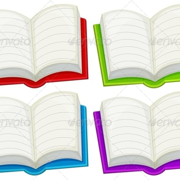 Colorful empty books