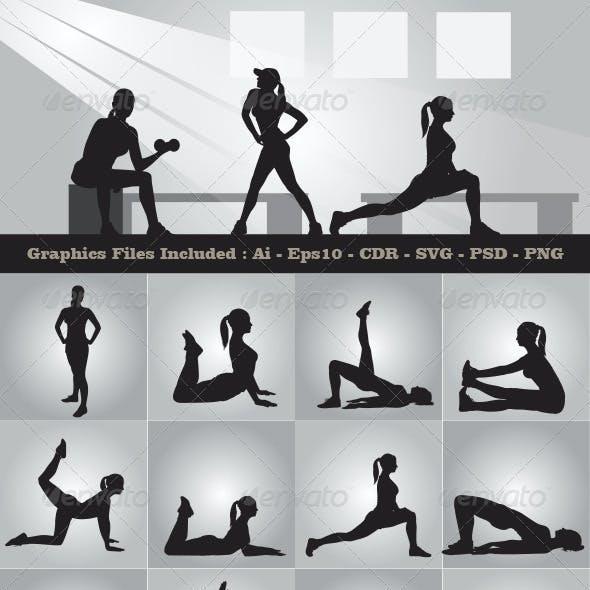 Female Training Silhouettes