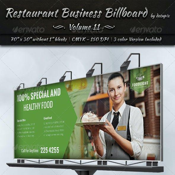 Restaurant Business Billboard | Volume 11
