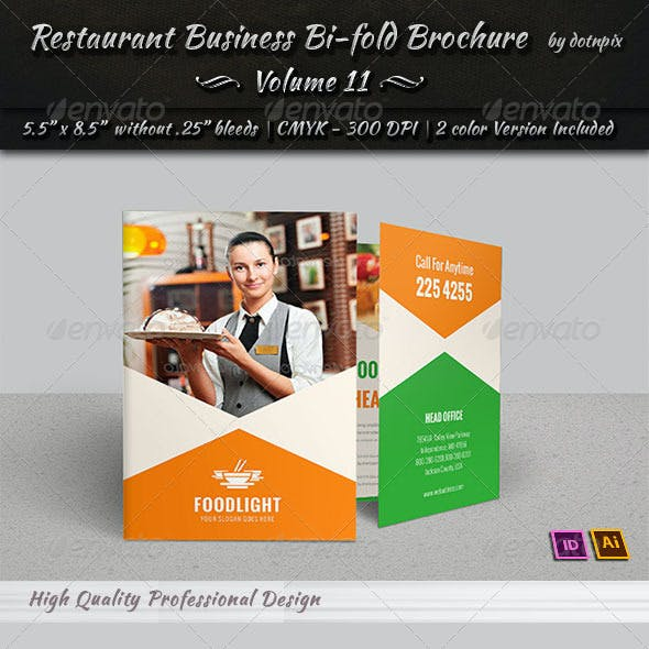 Restaurant Business Bi-Fold Brochure   Volume 11