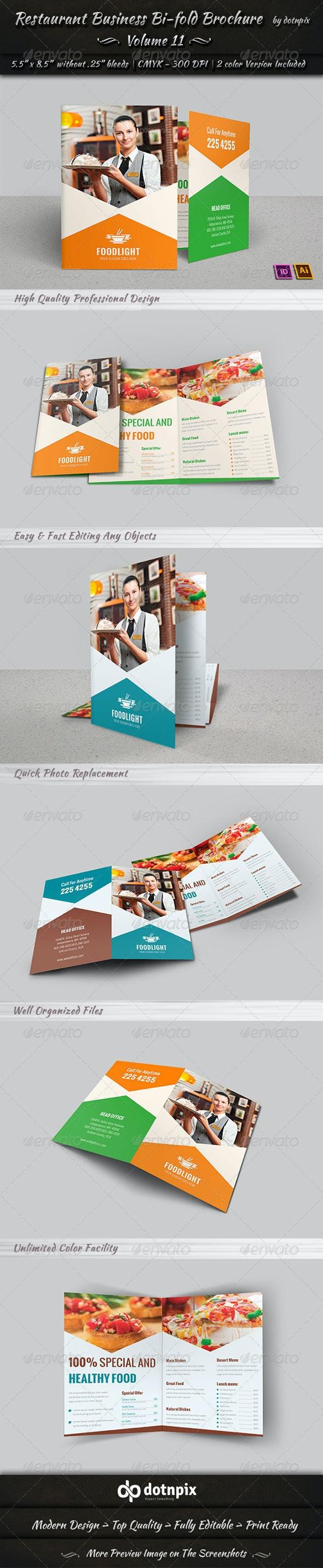 Restaurant Business Bi-Fold Brochure   Volume 11 - Corporate Brochures