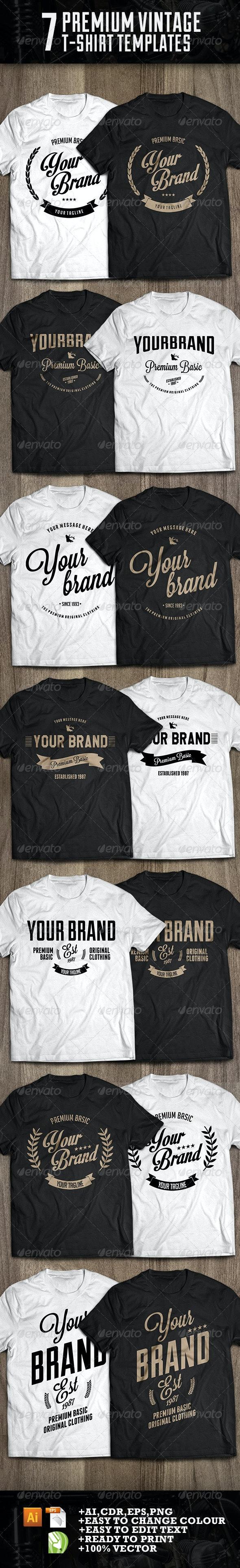 7 premium t-shirt template - Designs T-Shirts