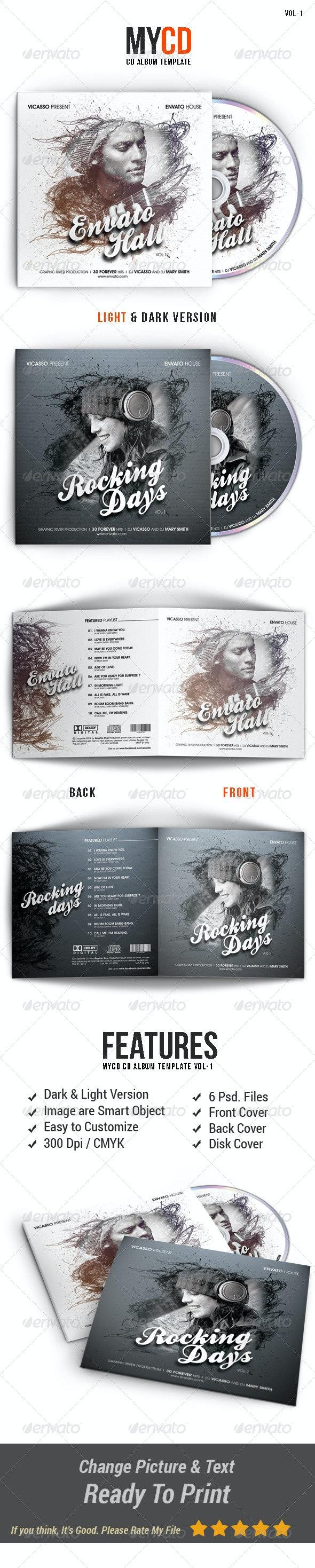 My Cd Template Vol.1 - CD & DVD Artwork Print Templates