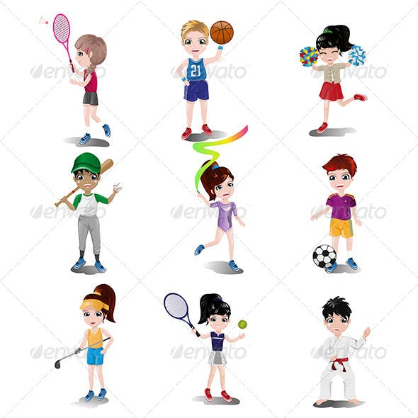 Kids Exercising and Playing Different Sports