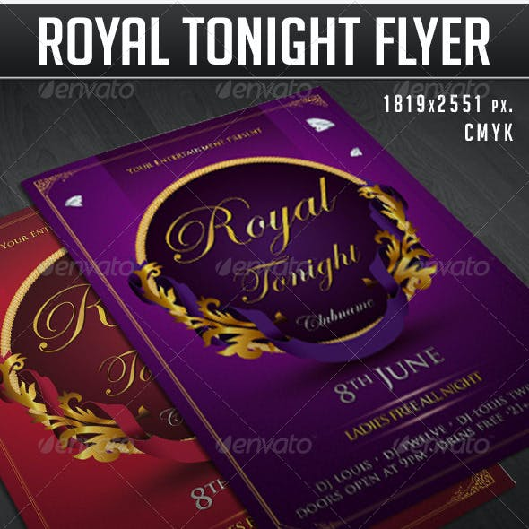 Royal tonight party flyer