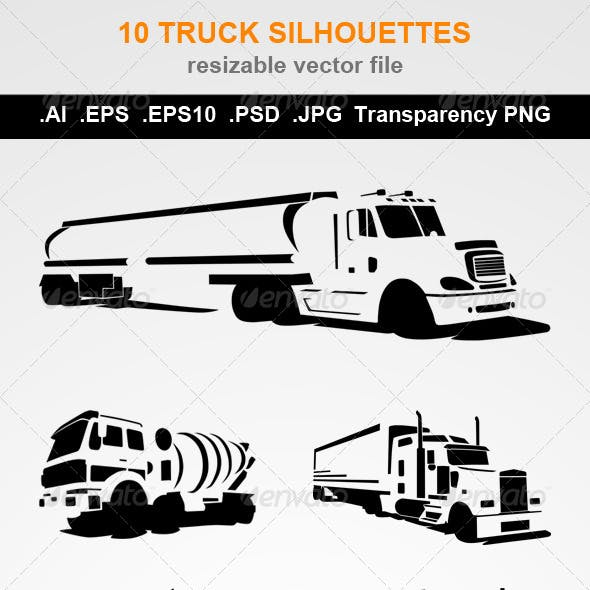 10 Truck Silhouettes