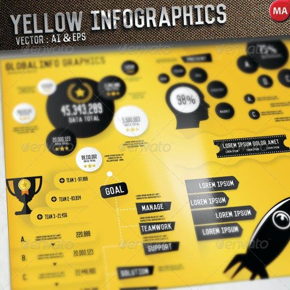 Yellow Infographics