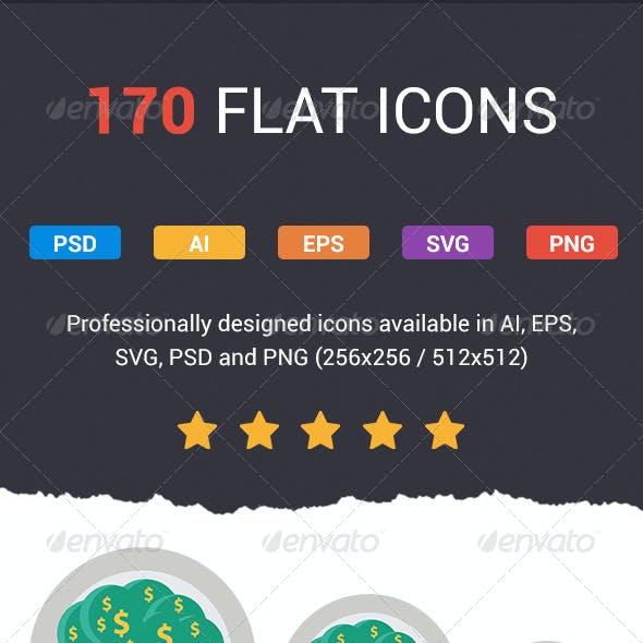 Flatistic - 170 Trendy Flat Icons