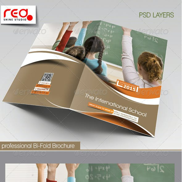 Junior School Bi-fold & Tri-fold Brochure Template