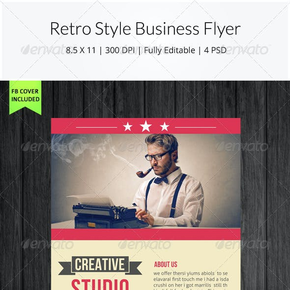Retro Style Business Flyer