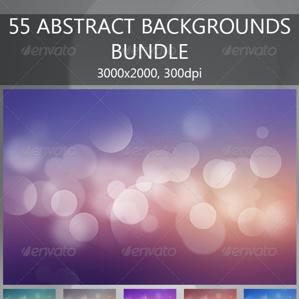 55 Abstract Backgrounds Bundle