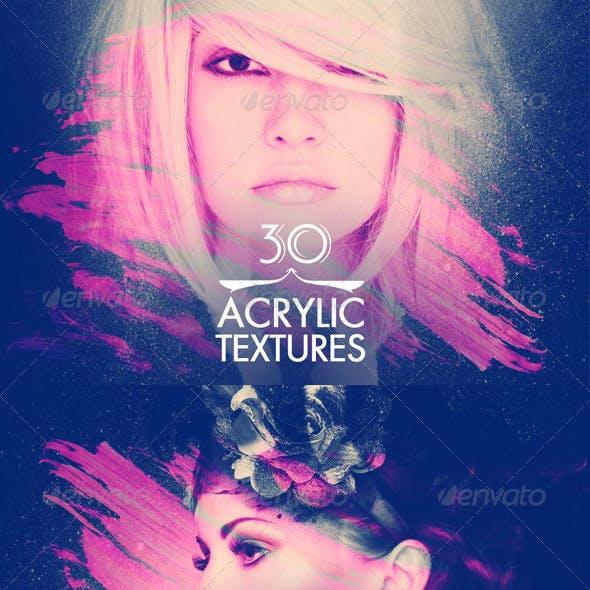 30 Acrylic Textures