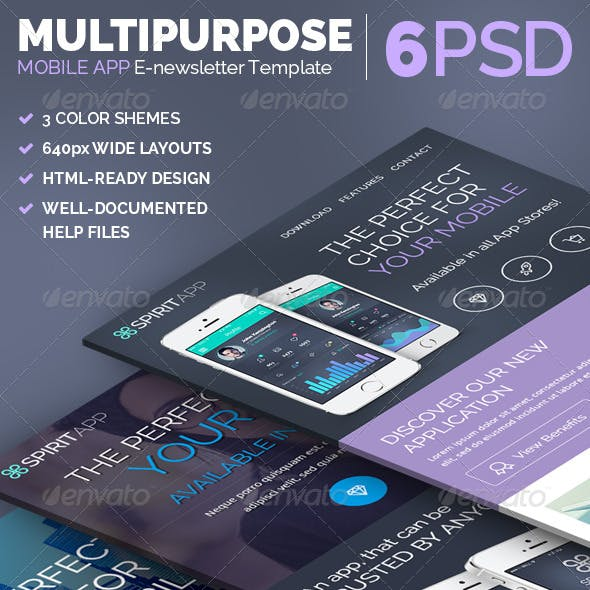 SpiritApp - Multipurpose E-newsletter Template