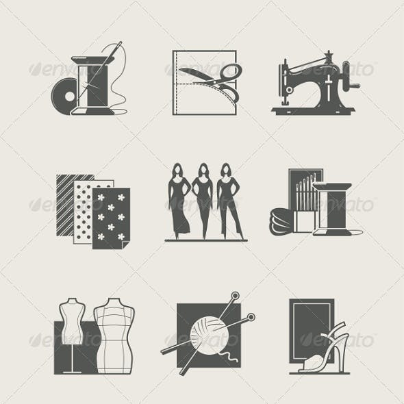 Sewing Set of  Icons