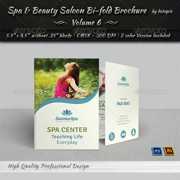 Spa & Beauty Saloon Bi-fold Brochure   Volume 6