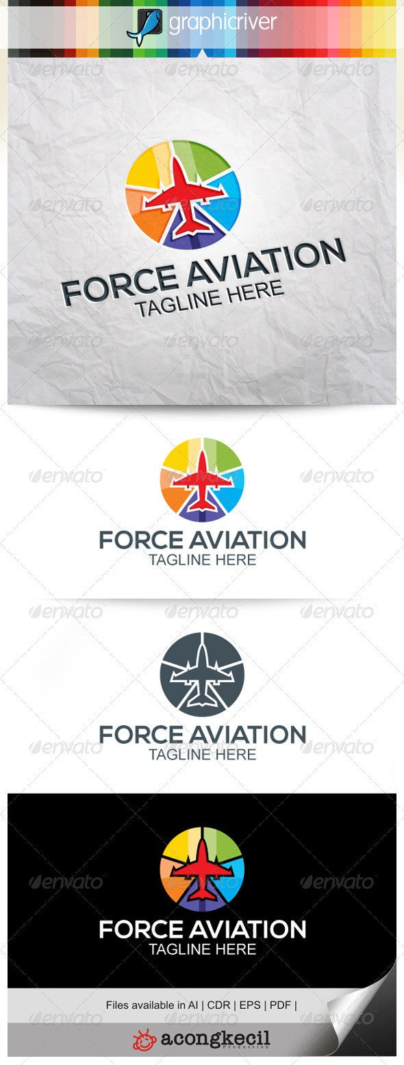Force Aviation V.2 - Symbols Logo Templates