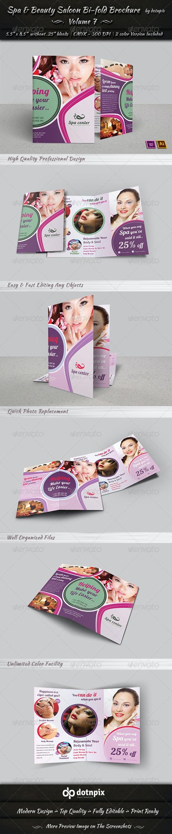 Spa & Beauty Saloon Bi-fold Brochure | Volume 7 - Corporate Brochures