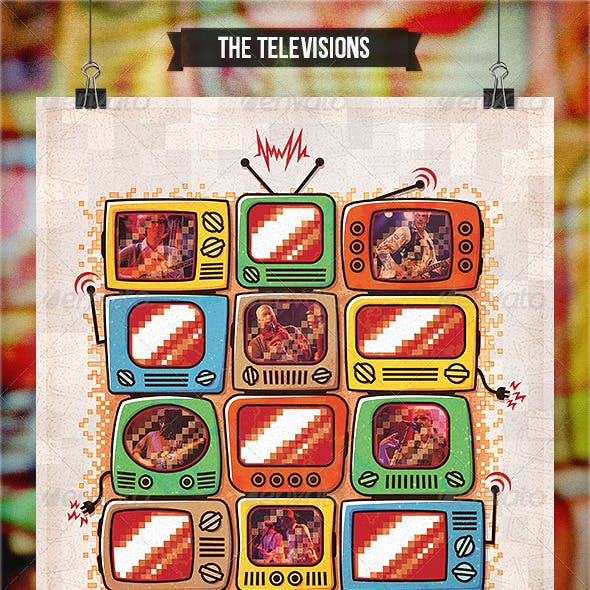 The Televisions - Flyer & Poster