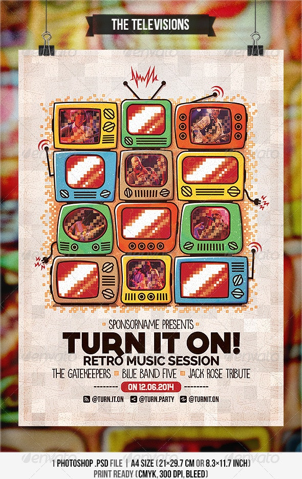 The Televisions - Flyer & Poster - Concerts Events