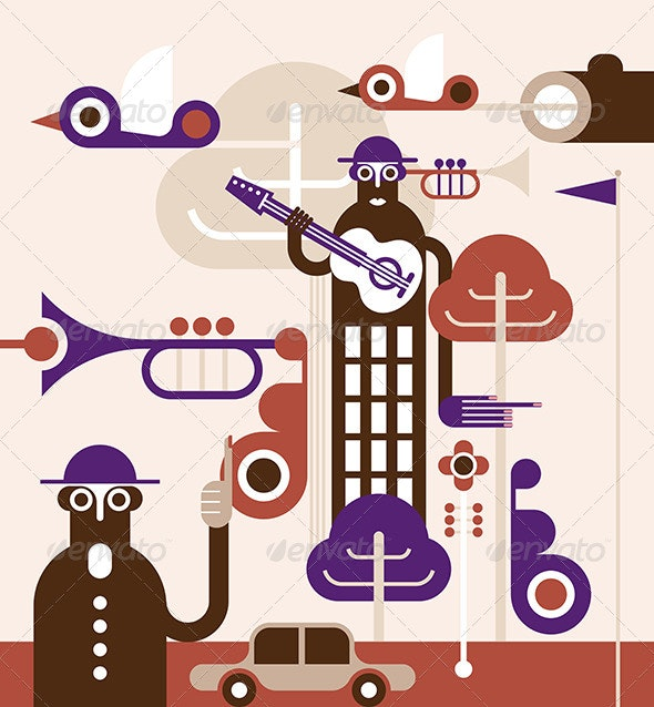 Abstract World - Vector Illustration - People Characters