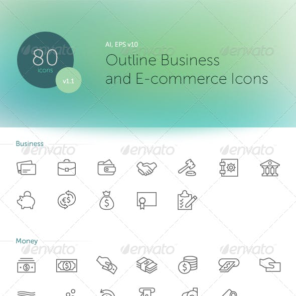 Outline Business and E-commerse Icons