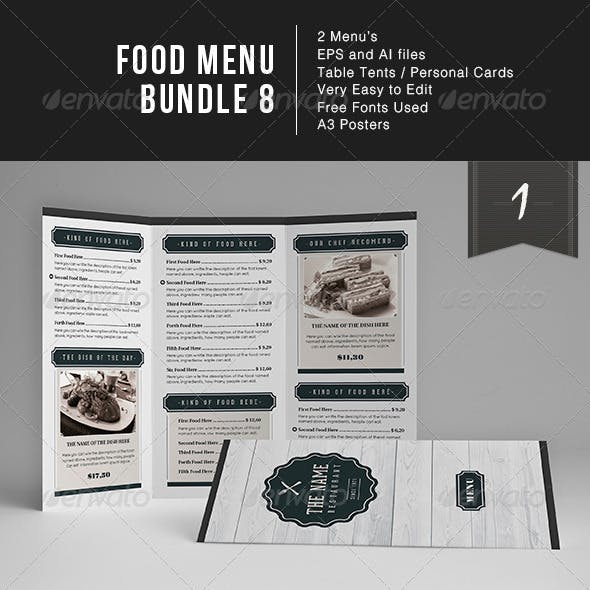 Food Menu Bundle 8