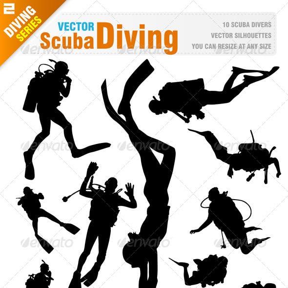 Scuba Diving Silhouettes