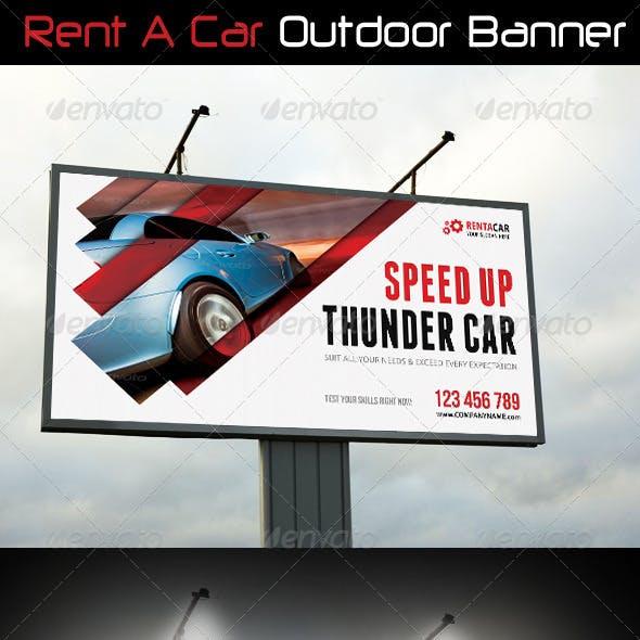 Rent A Car Outdoor Banner 08