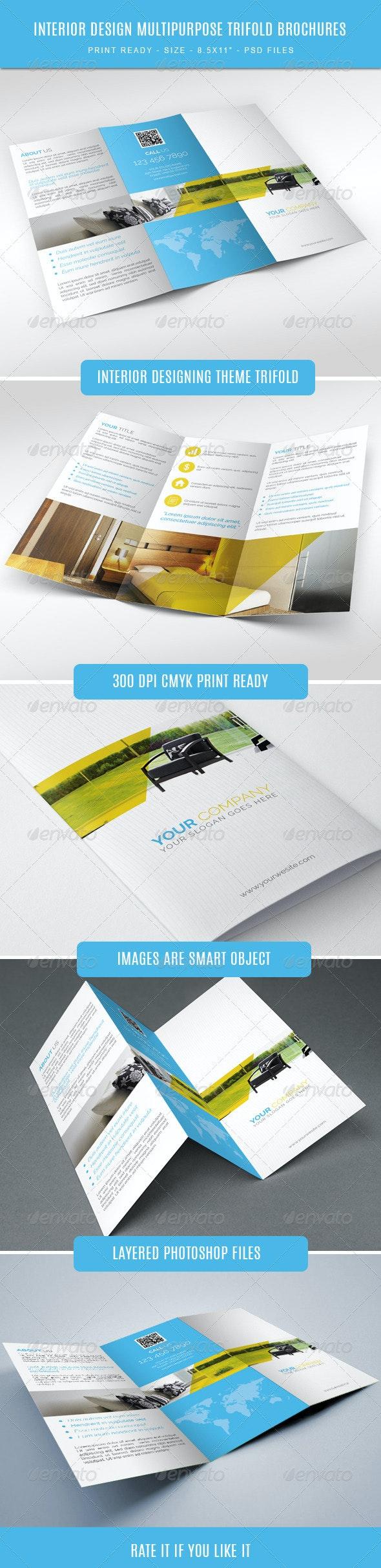 Interior Designing Tri-Fold Brochure - Informational Brochures