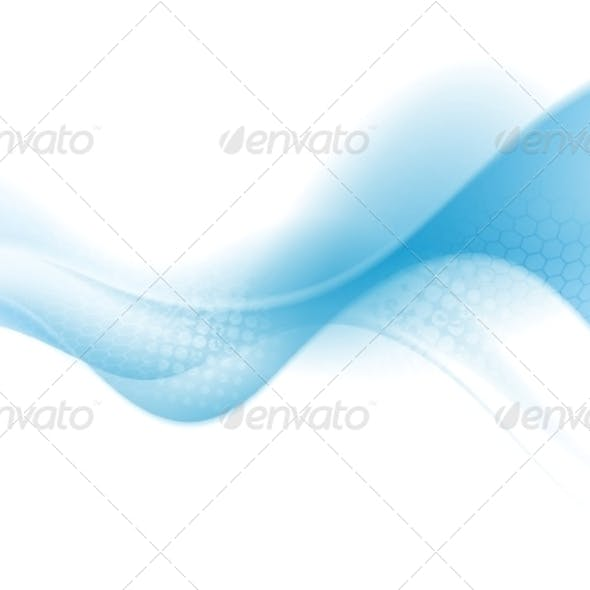 Bright Blue Abstract Wave