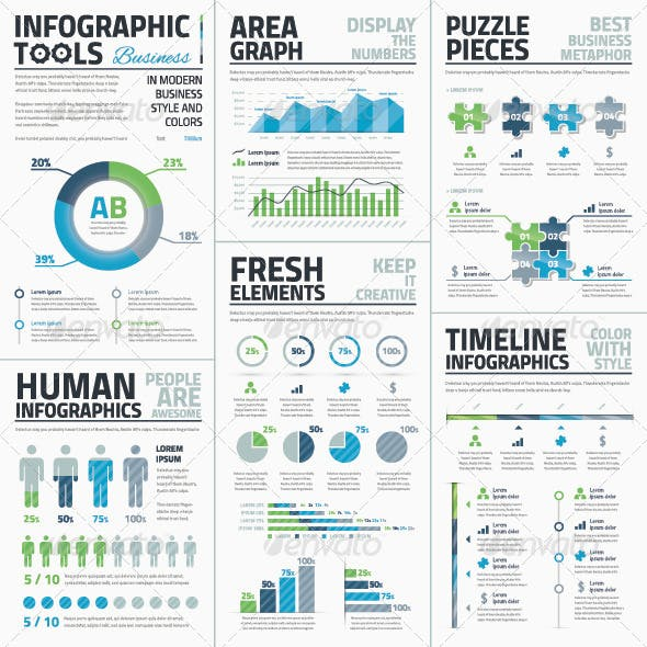 Big Set of Infographic Business Vector Elements