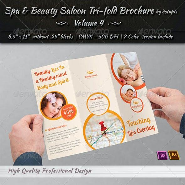 Spa & Beauty Saloon Tri-Fold Brochure   Volume 4