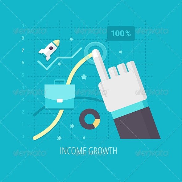 Income Growth - Business Conceptual