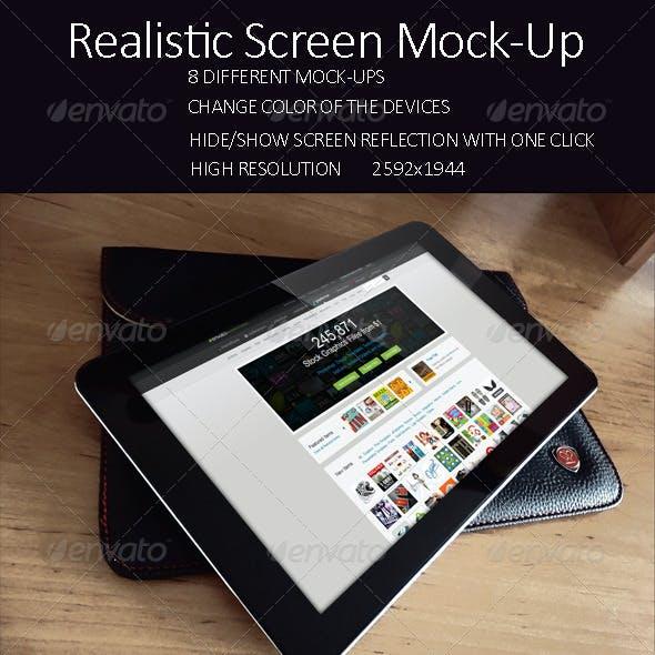 Realistic Screen Mock Up