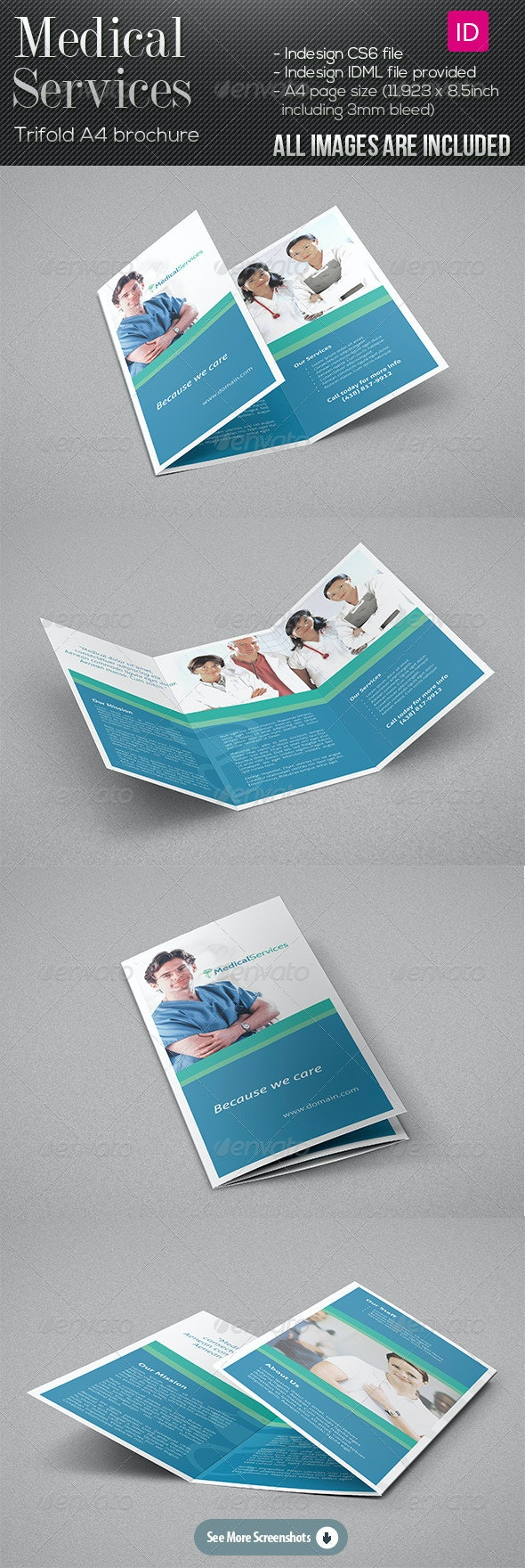 Medical Services - Trifold Brochure - Informational Brochures