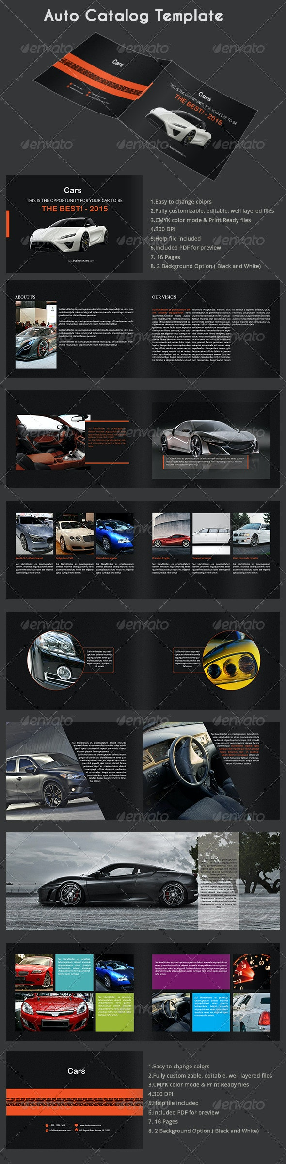 Auto Catalog Template - Catalogs Brochures