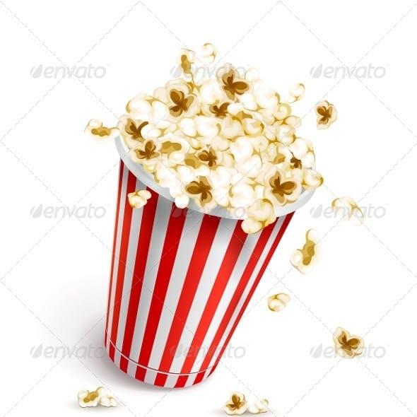 Paper Glass Full of Popcorn
