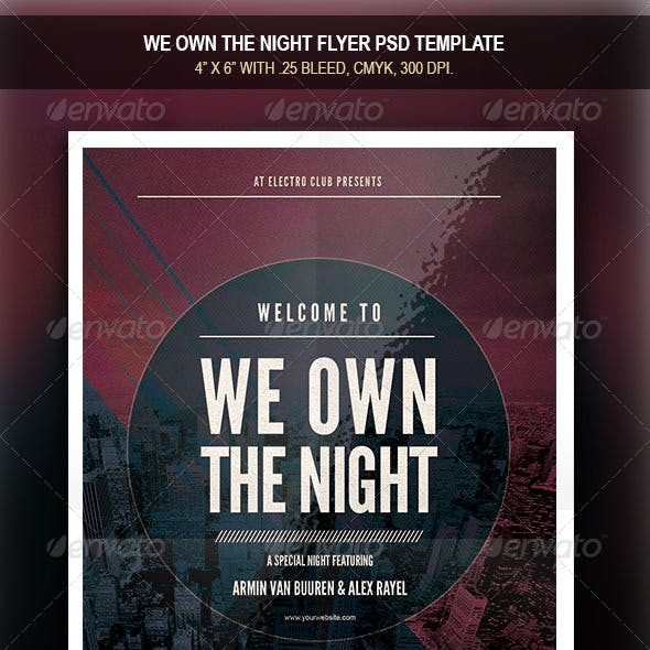 We Own the Night Flyer