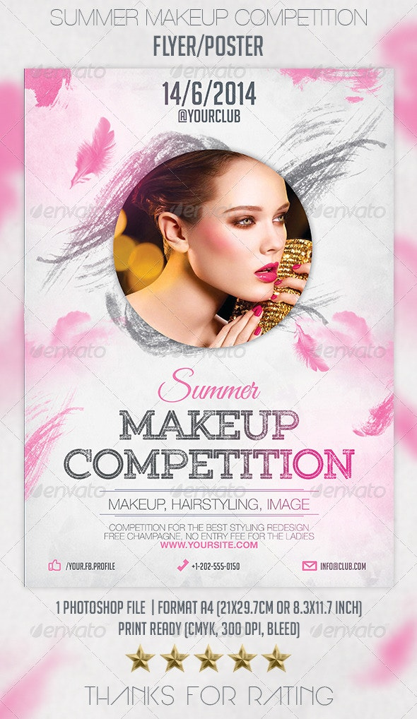 Summer Makeup Competition Flyer Poster